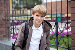 Portrait of teenager in  jacket Royalty Free Stock Photo