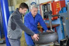 Portrait teenager in mechanics apprenticeship Royalty Free Stock Photos