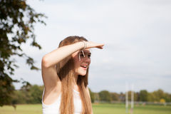 Portrait of Teenager in the Park royalty free stock photos