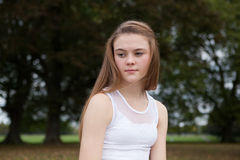 Portrait of Teenager in the Park Royalty Free Stock Photo