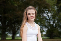 Portrait of Teenager in the Park stock images