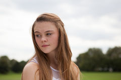 Portrait of Teenager in the Park Royalty Free Stock Images
