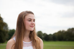 Portrait of Teenager in the Park royalty free stock image