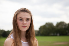 Portrait of Teenager in the Park Royalty Free Stock Photography