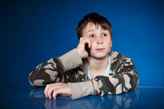 Portrait of a teenager with a phone Royalty Free Stock Photography