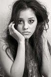 Portrait of a teenager. A teenager photo shoot in black and white Royalty Free Stock Photography