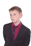 Portrait of a teenager in a suit Stock Images