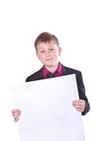 Portrait of a teenager in a suit Royalty Free Stock Photography
