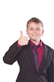 Portrait of a teenager in a suit Stock Photo