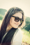 Portrait of a teenager with sunglasses Royalty Free Stock Images