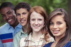 Portrait of teens in park Stock Photography