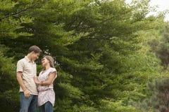Portrait of teens in park Stock Image