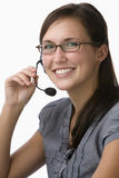 Portrait of a telemarketer stock photo