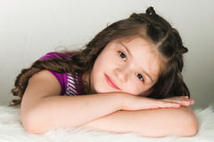 Portrait of the ten years' girl Stock Photo