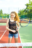 Portrait of a tennis player Royalty Free Stock Photos