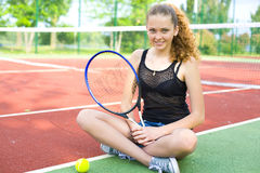 Portrait of a tennis player Royalty Free Stock Image