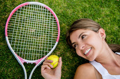 Portrait of a tennis player Royalty Free Stock Images