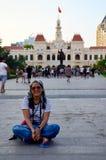 Portrait thaïlandais de femme chez Ho Chi Minh Square Image libre de droits