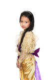 Portrait of the Thai beautiful little girl in Thai style traditi Royalty Free Stock Image