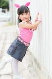 Portrait of Thai cute girl Royalty Free Stock Photos