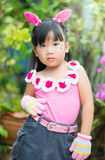 Portrait of Thai cute girl Royalty Free Stock Photography