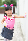 Portrait of Thai cute girl Royalty Free Stock Images