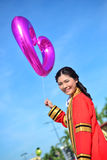 Portrait Thai Girl. With balloon in commencement day,  Thailand Royalty Free Stock Photo
