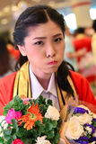 Portrait Thai Girl. With bouquet in commencement day,  Thailand university Royalty Free Stock Photography