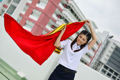 Portrait Thai Girl. In commencement day with academic gown ,  Thailand Stock Images