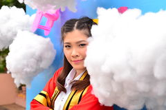 Portrait Thai Girl. In commencement day,  Thailand Royalty Free Stock Image