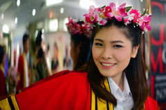 Portrait Thai Girl. In commencement day,  Thailand Stock Image