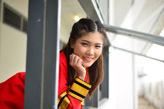 Portrait Thai Girl. In commencement day,  Thailand Royalty Free Stock Photography