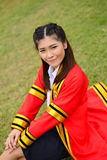 Portrait Thai Girl. In commencement day  ,  Thailand Royalty Free Stock Photography