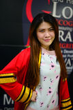Portrait Thai Girl. In commencement day,  Thailand university Royalty Free Stock Images