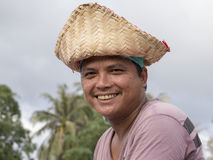 Portrait Thai man during Phangan Color Moon Festival , Thailand Stock Images