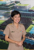 Portrait of Thai Parliamentary officer uniform woman. Royalty Free Stock Photos