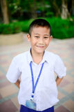 Portrait of Thai school boy in uniform. Royalty Free Stock Photo