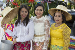 Portrait Thai woman during Phangan Color Moon Festival , Thailand Stock Photos