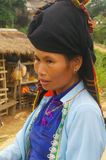 Portrait of a Thai woman in traditional costume Stock Photo