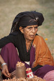 Portrait of Tharu woman, Nepal Stock Images