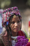 Portrait of Tharu woman, Nepal Royalty Free Stock Images