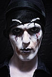Portrait of a theatrical actor with dark makeup Stock Photography