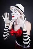 Portrait of theatrical mime Royalty Free Stock Photo
