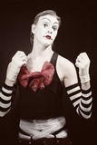 Portrait of theatrical mime Stock Photography