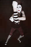 Portrait of theatrical mime Stock Photos