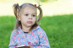 Portrait of think girl Royalty Free Stock Images