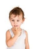 Portrait of thinking boy Stock Image