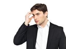 Portrait of the thinking businessman Stock Photography