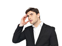 Portrait of the thinking businessman Royalty Free Stock Photo