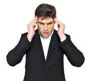 Portrait of the thinking businessman Royalty Free Stock Image
